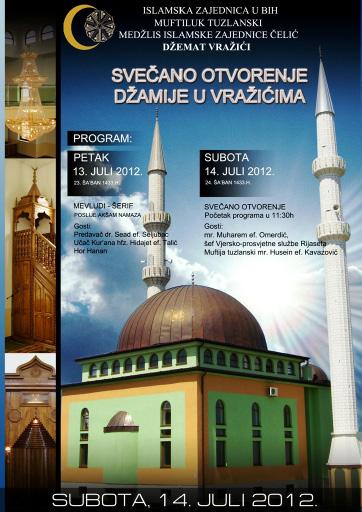 Čelić: Svečano otvaranje džamije u Vražićima