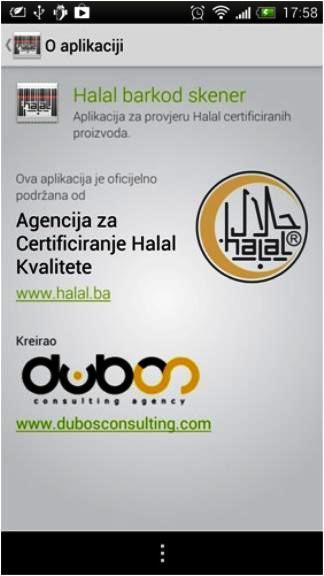Aplikacija za provjeru halal statusa proizvoda